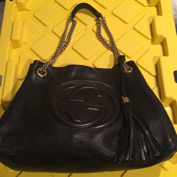 8b0b3ab8623 Gucci Handbags - Gucci soho chain shoulder bag